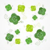 Green Clover Leaves Vector Background — Stockvektor