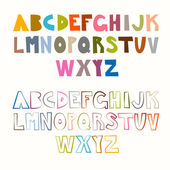 Vector Funny Alphabet Sets. Colorful and Outlined. — Stock Vector