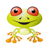 Abstract Vector Frog Illustration Isolated on White Background — Stock Vector