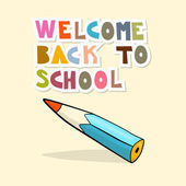 Vector Back to School Background with Pencil — Stock Vector