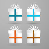 Gift Boxes. Made From Paper. Vector Illustration. — Stock Vector