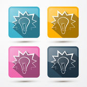 Bulb Icons — Stock Vector