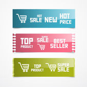 Paper Labels, Tags, Stickers — Stock Vector