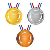Vector Medals Set Isolated on White Background — Stock Vector