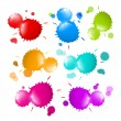 Colorful Vector Stains, Blots, Splashes Set — Stock Vector #40153619