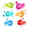 Colorful Vector Sale Blots Icons Set — Stock Vector