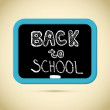 Back to School Title with Chalk and Blackboard — Stock Vector