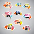 Stock Vector: Vector Discount Stickers, Labels