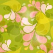 Green and Pink Abstract Vector Background — Stock Vector