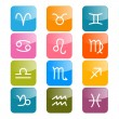 Vector Zodiac, Horoscope Rectangle Colorful Symbols — Stock Vector