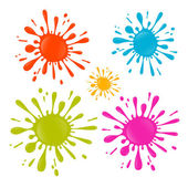 Colorful Vector Splash - Stain - Blot Illustration Set — 图库矢量图片