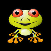 Abstract Vector Frog Illustration — Stock Vector