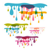 Abstract Vector Background - Colorful Splashes, Blots — Stock Vector