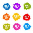 Colorful Discount Labels, Stains, Splashes — Stock Vector #41146261