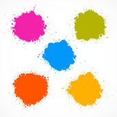 Colorful Vector Stains, Blots, Splashes Set  — Stock Vector