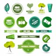 Natural Product Green Labels - Tags - Stickers Set — Stock Vector #41559489