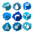 Vector Water Symbols - Icons Splash Set — Stock Vector
