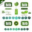 Bio - Natural Product Green Labels - Tags - Stickers Set — Stock Vector