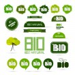 Bio - Natural Product Green Labels - Tags - Stickers Set  — Stock Vector #41822403