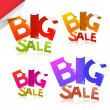Colorful Big Sale Vector Sticker - Label Set — Stock Vector