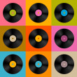 Retro, Vintage Vector Vinyl Record Disc Background  — Stok Vektör #41825363