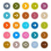 Arrows Set in Circles  — Stock Vector