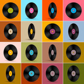Retro, Vintage Vector Vinyl Record Disc Background  — 图库矢量图片