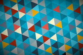 Blue Vector Abstract Triangle Retro - Modern Background — Vecteur