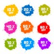 Colorful Discount Labels, Stains, Splashes — Stock Vector #42044527