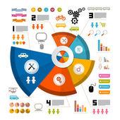 インフォ グラフィック ベクトル アイコン - 要素とレイアウト — ストックベクタ