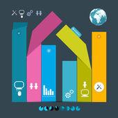 Vector Paper Labels - Infographics Template — Vector de stock