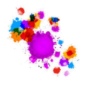 Colorful Vector Splashes Abstract Background — Stockvector