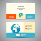 Paper Business Card Template — Stock Vector
