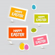 Paper Vector Easter Eggs, Labels, Tags Set — Stock Vector