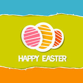 Paper Vector Easter Eggs on Torn Paper Background, Happy Easter celebration  — Stock Vector