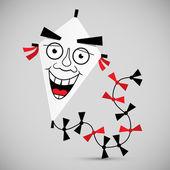 Paper Kite - Vector Illustration  — Vector de stock
