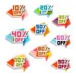 Vector Discount Labels Set — Stock Vector #42581705