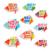 Vector Discount Labels Set — Stock Vector