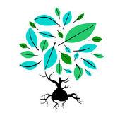 Abstract vector illustration d'arborescence — Vecteur