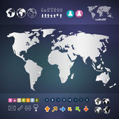 Vector World Map Infographics Template  — Stock Vector