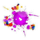 Colorful Vector Splashes Abstract Background — Vecteur