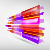 Abstract Colorful Transparent Strips Background  — Stock Vector