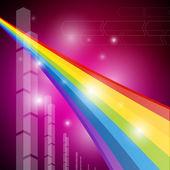 Tęcza kolorów przezroczyste tło — Wektor stockowy