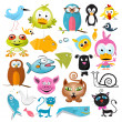 Vector Animals Set — Stock Vector