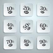 Vector Discount Stickers, Labels — Stock Vector