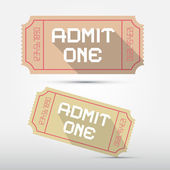 Vector Admit One Ticket Illustration — Stock Vector