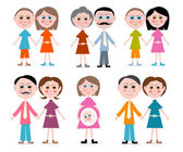 Vector Family Members Set Illustration Isolated on white Background — Cтоковый вектор
