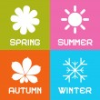 Four Seasons Vector Illustration — Stock Vector