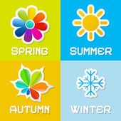 Four Seasons Vector Illustration — Stockvector