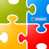 Colorful Puzzle Vector Background  — Stockvektor
